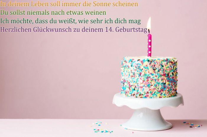 Glückwünsche Zum 14 Sprüche Zum 14 Geburtstag 2019 09 19