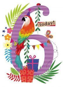 Glückwünsche zum 6. Geburtstag